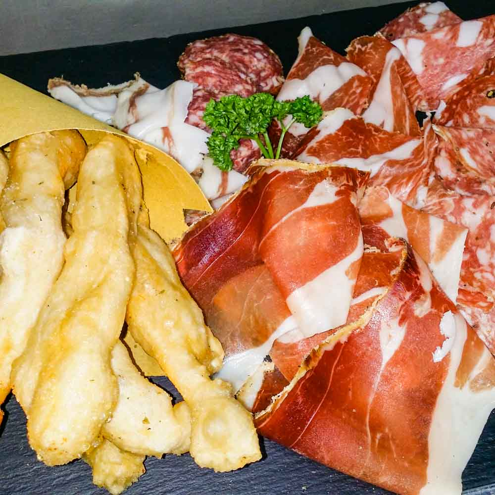 Assortment of typical cured meats